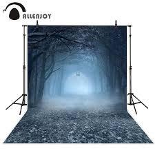 <b>Allenjoy photography backdrops</b> Forest Foggy Ghost <b>Halloween</b> ...
