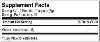 Resultado de imagen para creatina dna nutrition facts