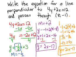 how to write a paragraph essay day 7 write equations of perpendicular lines