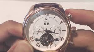 <b>Forsining Mens Automatic</b> Watch (Rose Gold) Review - YouTube