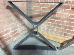 metal dining table base legs bennysbrackets:  ideas about wood table bases on pinterest table bases design table and steel table