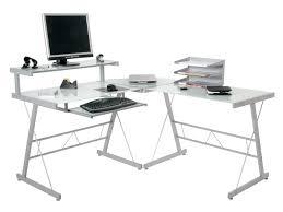 comfortable corner glass computer desk on furniture with glass black glass top corner