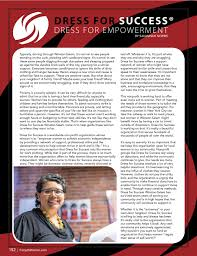 dress for empowerment dress for success winston m fall 2016 overview article fm page 001