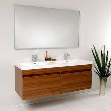 bathroom place vanity contemporary: fresca fvntk modern largo bathroom vanity with wavy double sinks