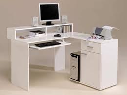 furniture l shaped white wooden corner desk with hutch and bookshelf also drawers having sliding beautiful corner desks furniture