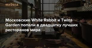 Московские <b>White Rabbit</b> и Twins Garden попали в двадцатку ...