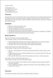 professional high school social studies teacher templates to    resume templates  high school social studies teacher