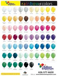 corporate do it yourself balloon emporium see our color chart