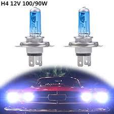 Fansport <b>Light</b> Bulbs <b>H4</b> 12V 100W <b>6000K</b> Xenon Halogen <b>White</b>