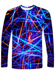 <b>Men's</b> T-shirt <b>Creative</b> 3D Laser Line Print <b>Long</b>-<b>sleeved</b> Sale, Price ...