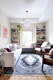 narrow living room before you roll in that room hogging sofa and chaise lounge take a peek at this apartment therapy article and learn all about the number of seats one
