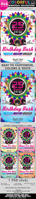 colorful birthday invitation flyer template by hermz graphicriver colorful birthday invitation flyer template clubs parties events