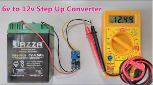 <b>6v</b> to <b>12v DC step</b> up Converter using Boost power supply Module ...