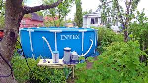 ВЛОГ Продолжаем зачистку | Каркасный <b>бассейн Intex Metal</b> ...