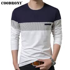 <b>COODRONY T Shirt Men</b> 2019 Spring Autumn New Long Sleeve O ...
