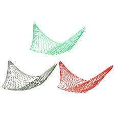 <b>Deep Green Nylon Hammock</b> Hanging Mesh Sleeping Bed Swing ...