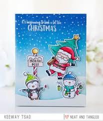 Stacked Snow Buddies Gate Fold Card | Julekort | Julekort