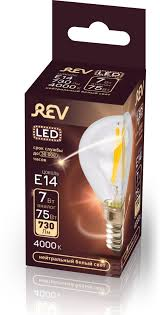 <b>Лампочка REV Deco Premium</b> Filament G45, Холодный свет, E14 ...