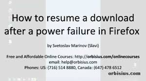 how to resume a firefox after a power failure outage how to resume a firefox after a power failure outage