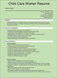 an example child care resume co an example child care resume