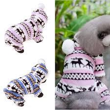 <b>1pc Pet Dog Puppy Winter</b> Warm Sweater Hoodie Jumpsuit Coat ...