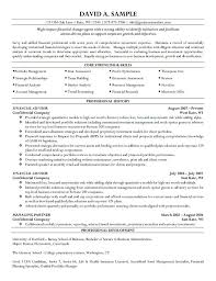 financial advisor resume free resume templates resume examples for banking jobs