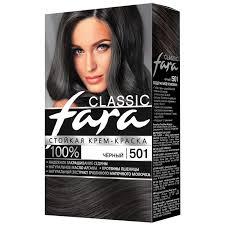 <b>Крем</b>-<b>краска для волос</b> Fara 501 черный | Магнит Косметик