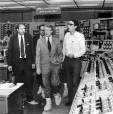 President Jimmy Carter visiting nuclear power plant in PA after accident in 1979.