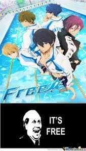 Anime Free, It's Free! by Ifreet - Meme Center via Relatably.com