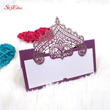 10/50/<b>100pcs Fashion Lace</b> Wedding Decoration Invitations Table ...