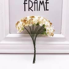 <b>12pcs</b>/<b>lot</b> Artificial Flower Gold powder Paper Rose Handmade For ...