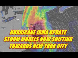 hurricane update weather models now moving irma into new york city