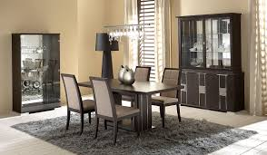 chair dining tables room contemporary: modern dining set on a gray fur rug combined with modern minimlaist cabinet and unique
