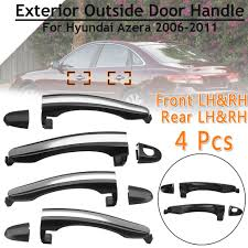 <b>4 Pcs Front</b> Rear Right Left Black Exterior Outside Door Handle For ...