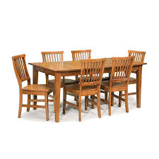 dining room khaki tone: home styles arts amp crafts cottage oak dining set with rectangular dining table
