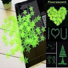 Generic 1/<b>100PCS Fashion Kids Bedroom</b> Beautiful Fluorescent ...