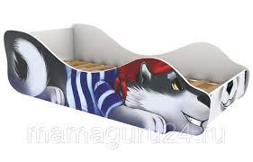 <b>Кровать</b> детская <b>Бельмарко Зверята</b>, спальное 160*70см (24 ...