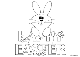 Small Picture happy easter bunny coloring Easter Pinterest Happy easter