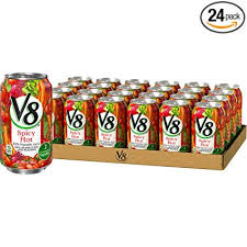 V8 Spicy Hot 100% Vegetable Juice, 11.5 oz. Can ... - Amazon.com
