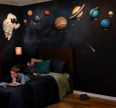 Star Bedroom Decor Solar System With Space Astronaut 3d Wall Art Decor By Beetling