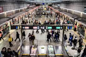 photo taiwan rush hour taipei mrt