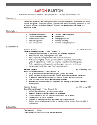 heavy equipment operator resume sample cipanewsletter machine operator resume getessay biz