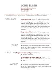 9 best resume templates for freshers best template 7 doc