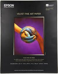 <b>Epson Velvet Fine Art Paper</b> (8.5x11 Inches, 20 Sheets) (S041636 ...