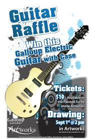 guitar raffle poster ansuz design page layout guitar raffle adverstising poster version one
