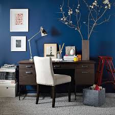 blue office eclectic home office blue home office