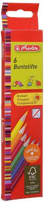 Herlitz <b>Набор цветных</b> карандашей Buntstifte <b>6</b> шт — купить в ...