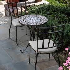 crossman piece outdoor bistro:  elegant patio furniture bistro set patio decorating pictures alfresco home tremiti mosaic bistro set ultimate patio