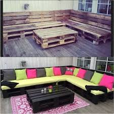some pallets a little paint some home depot cushions and elbow grease awesome home depot patio