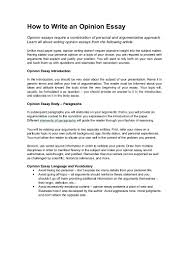 personal opinion essay writing how to write an opinion essay